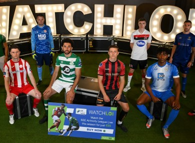 Players at yesterday's launch.