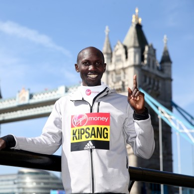 Wilson Kipsang pictured in London in 2016.