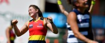 Ailish Considine in action for the Adelaide Crows.