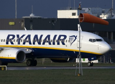File image of a Ryanair flight in March this year.