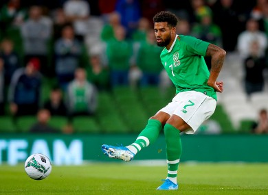 Cyrus Christie has been capped 24 times for Ireland.