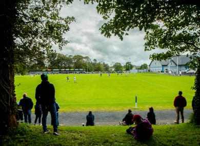 Fans catching a glimpse of the Mayo SFC Breaffy-Westport clash on Sunday.