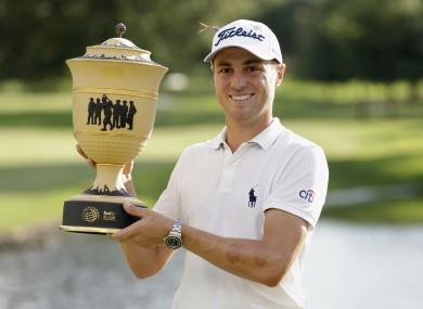 Winner, winner: Justin Thomas.