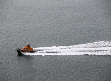 Stock image of RNLI lifeboat.