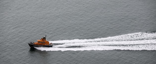 Stock image of RNLI lifeboat.
