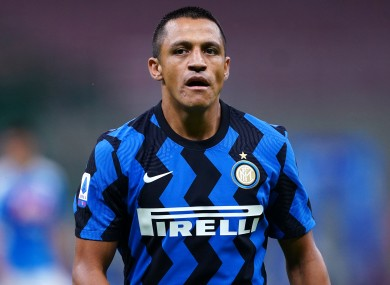 Alexis Sanchez at Inter Milan.