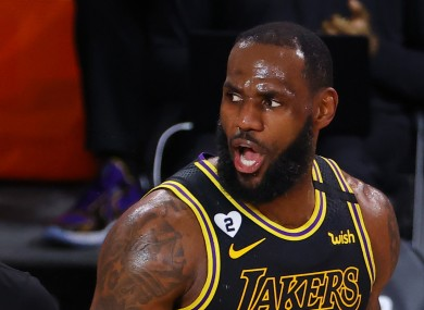 Los Angeles Lakers' LeBron James (file pic).