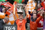 Mags McAlinden lifting the All-Ireland intermediate crown in 2012.