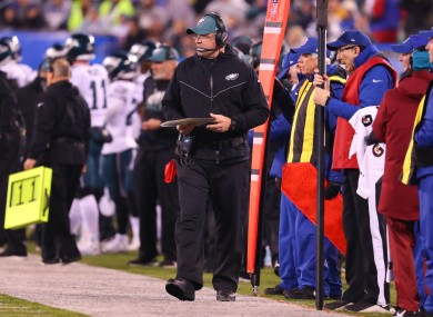 File photo, Pederson coaching against the Giants in December.
