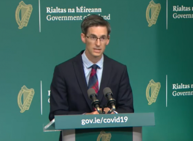 Glynn speaking at this evening's briefing.