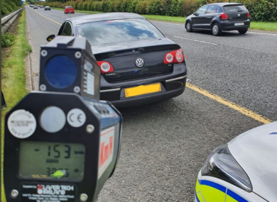 Cars detected travelling at excessive speeds on the M1.