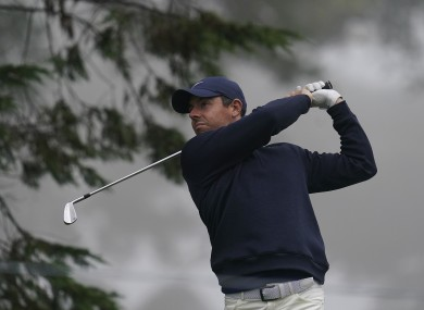Rory McIlroy pictured earlier this week during practice ahead of the PGA Championship.