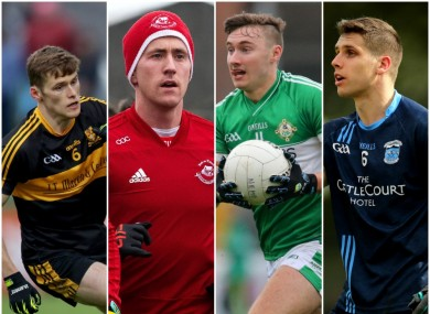 Gavin White, Cillian O'Connor, James O'Donoghue and Lee Keegan are in action.