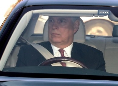 Prince Andrew arriving at Buckingham Palace in 2019.