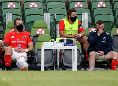 RG Snyman's Munster career is back on hold after he sustained an early injury.