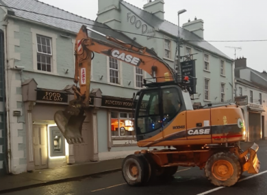 The scene after an attempted ATM robbery in Virginia in Co Cavan in August 2019.