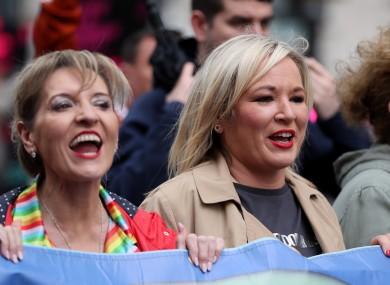 Martina Anderson and Sinn Féin deputy leader Michelle O'Neill