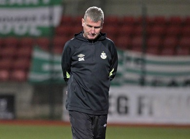 Stephen Kenny as Shamrock Rovers manager.