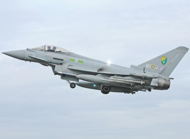 RAF Typhoon aircraft escorted the plane