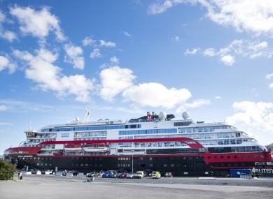 Hurtigruten's vessel MS Roald Amundsen, docked in Tromso, Norway on Sunday.