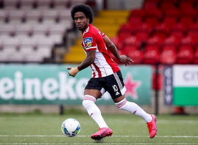 Equaliser: Figueira got Derry back on level terms early in the second half (file photo).