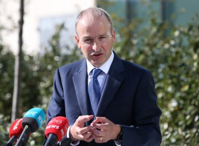 File image of Taoiseach Micheál Martin speaking to media earlier this month.