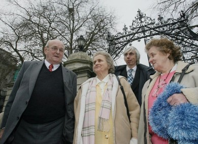 Members of Seamus Ludlow's family, sisters Eileen Fox (r) and Ann Sharkey (centre) with brother Brendan Ludlow (centre left) and nephew Michael Donaghan.
