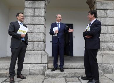 Leo Varadkar, Micheál Martin and Eamon Ryan (file photo).