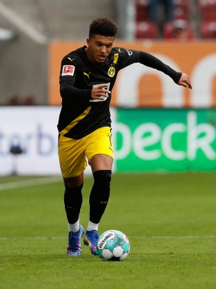 The saga continues: Jadon Sancho (file pic).