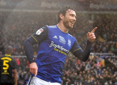 Scott Hogan scored seven goals in 18 appearances while on loan at Birmingham City last season.