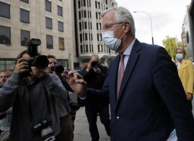 EU Chief negotiator Michel Barnier as he leaves a meeting in London.