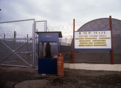 The entrance to Compound 7 at the Maze Prison.