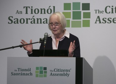 Justice Mary Laffoy is President of the Law Reform Commission.