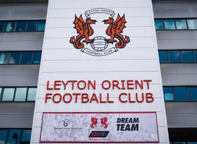 A view of the Breyer Group Stadium, home to Leyton Orient.