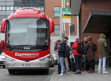 File photo of a Bus Éireann Expressway bus in Dublin.