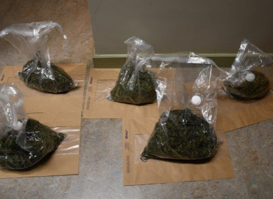 The suspected cannabis seized in Co Wexford.