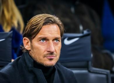 Roma legend Francesco Totti