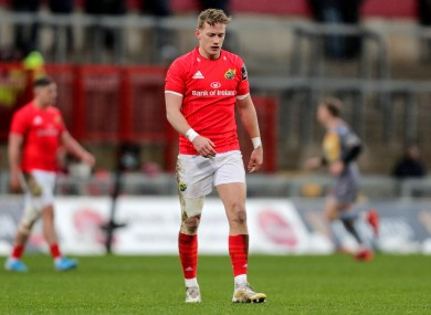 Mike Haley in action for Munster back in February.