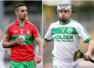 Ballymun's James McCarthy and Ballyhale's TJ Reid are in county final action this weekend.