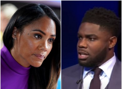 Micah Richards has spoken out in defence of fellow pundit Alex Scott.