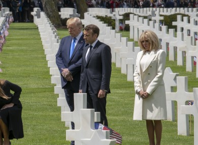 Trump during a visit to a Normandy graveyard in 2019.