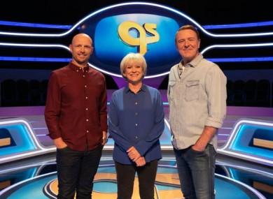 Sue Barker (centre) with Matt Dawson and Phil Tufnell.
