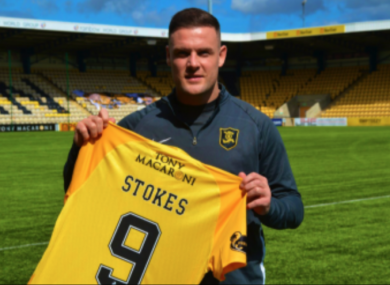 Anthony Stokes, pictured at his recent unveiling at Livingston.