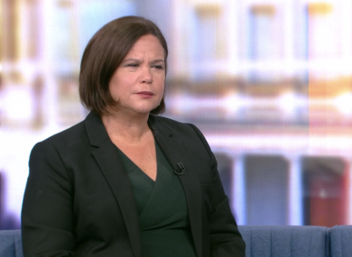 Mary Lou McDonald speaking on RTÉ The Week In Politics