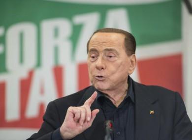 Berlusconi speaking in Turin last year.