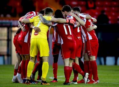 Sligo team huddle (file pic).