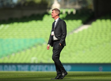 Stephen Kenny ahead of today's defeat to Finland.