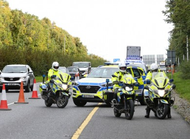 Gardaí at a Covid-19 checkpoint (file photo)