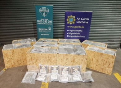 The cannabis seized as part of a joint operation last week.