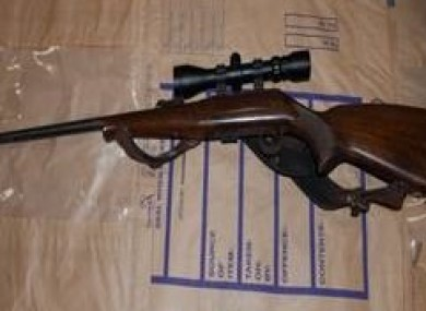 Rifle 22 seized by Gardaí.